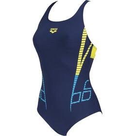 arena Shiner Swim Pro Back Costume Da Bagno Intero Donna, blu